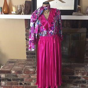 80's Diane Freís skirt set